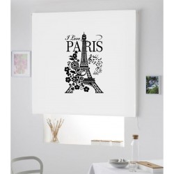 Estor Iroa enrollable con dibujo /Love Paris