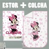 Conjunto Colcha y Estor personalizable Minnie CL
