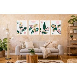 Laminas / Canvas Set 4 Floral 009