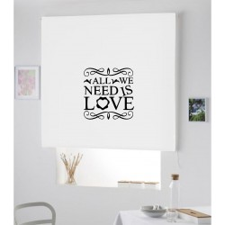 Estor Iroa enrollable con frase / Need is Love